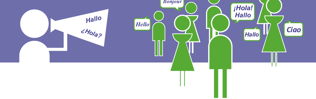 Es gibt viele Personen in anderen Ländern, die deine Sprache sprechen und sich verbessern können.