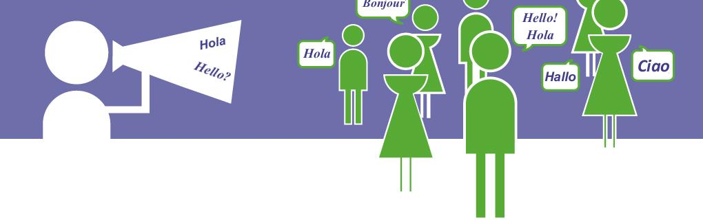 Hay muchas personas en otros países que hablan tu idioma y necesitan practicarlo.